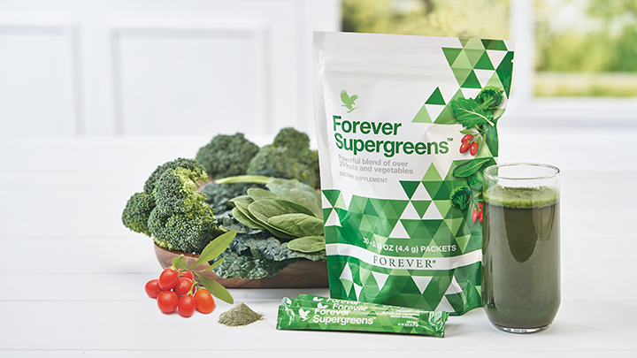 Green goodies in a smart format: Forever Supergreens