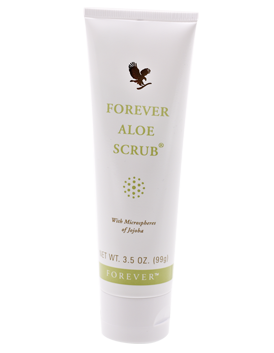 Effective exfoliation for the whole body with mild Forever Aloe Scrub, which removes dead skin cells and cleanses down deep to keep your skin fresh.