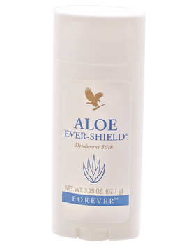 Aloe Ever-Shield is a gentle, effective deodorant with a mild fragrance for men and women. Stain and mess free.