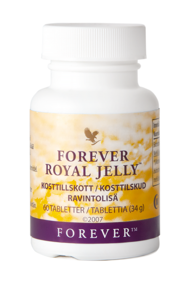 Forever Royal Jelly includes vitamin B5 (pantothenic acid) which helps to reduce tiredness and aids normal mental performance.