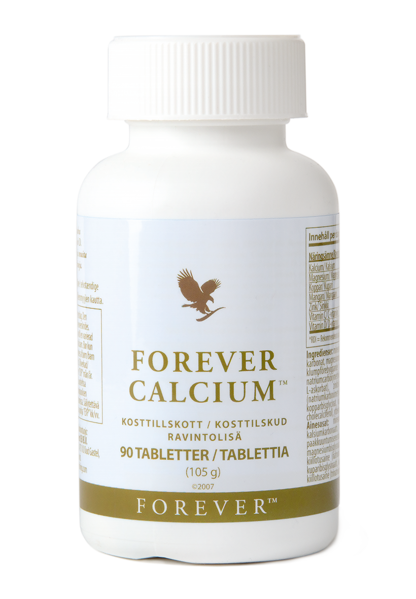 Calcium is needed for the maintenance of normal bones. Forever Calcium also includes copper, manganese, magnesium, zinc and vitamins C and D.