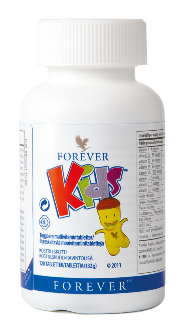 Forever Kids is a child-friendly dietary supplement with the key vitamins and minerals, all in a tasty chewing tablet.