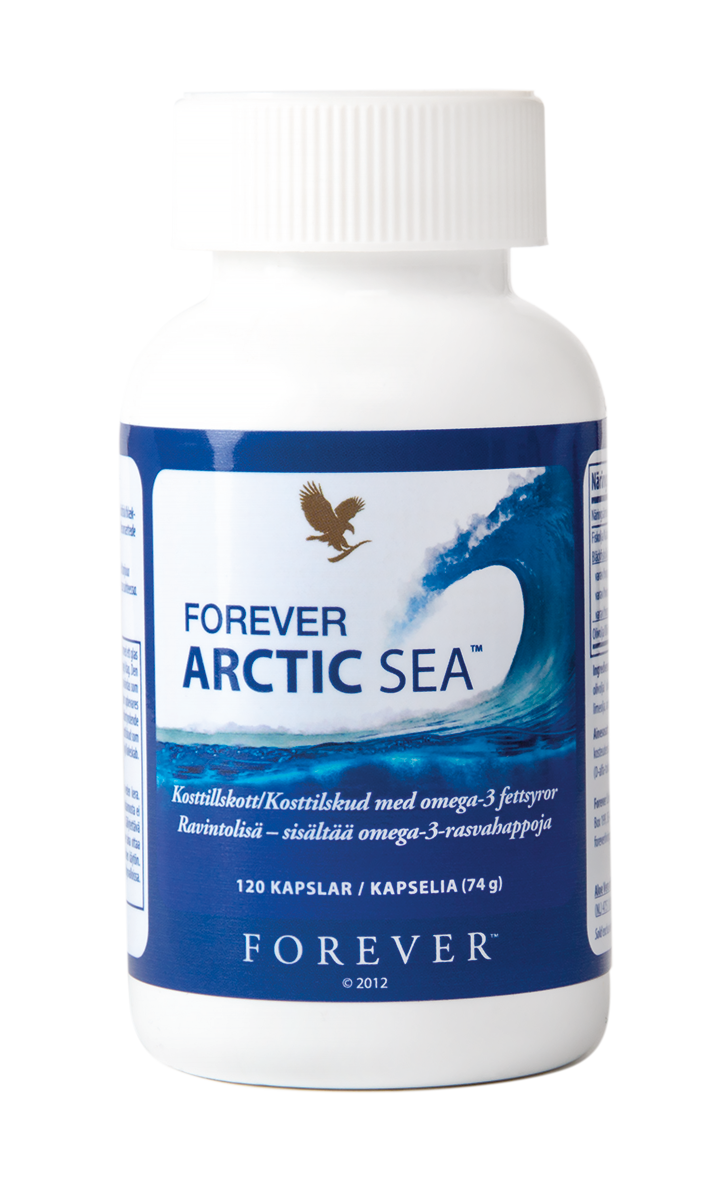 Do you eat too little fish and seafood? The dietary supplement Forever Arctic Sea contains the omega-3 fatty acids DHA and EPA. With a fresh citrus flavour.