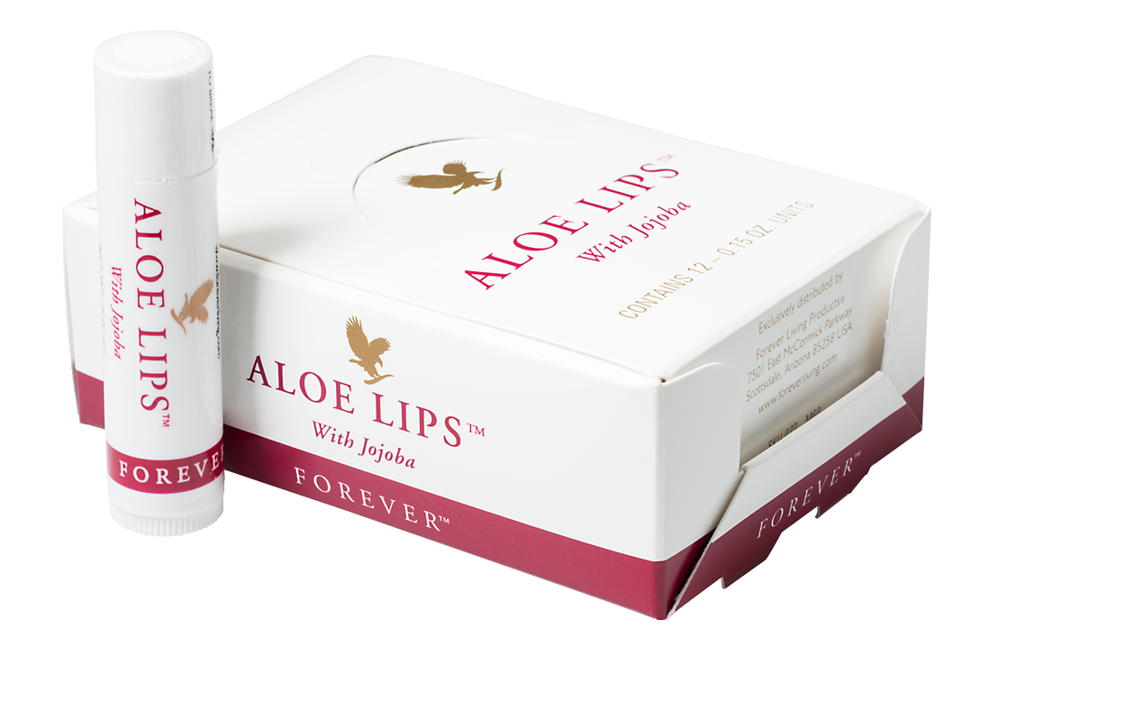 The popular lip balm Aloe Lips with Aloe vera, jojoba oil and beeswax, which protects the lips and keeps them soft.