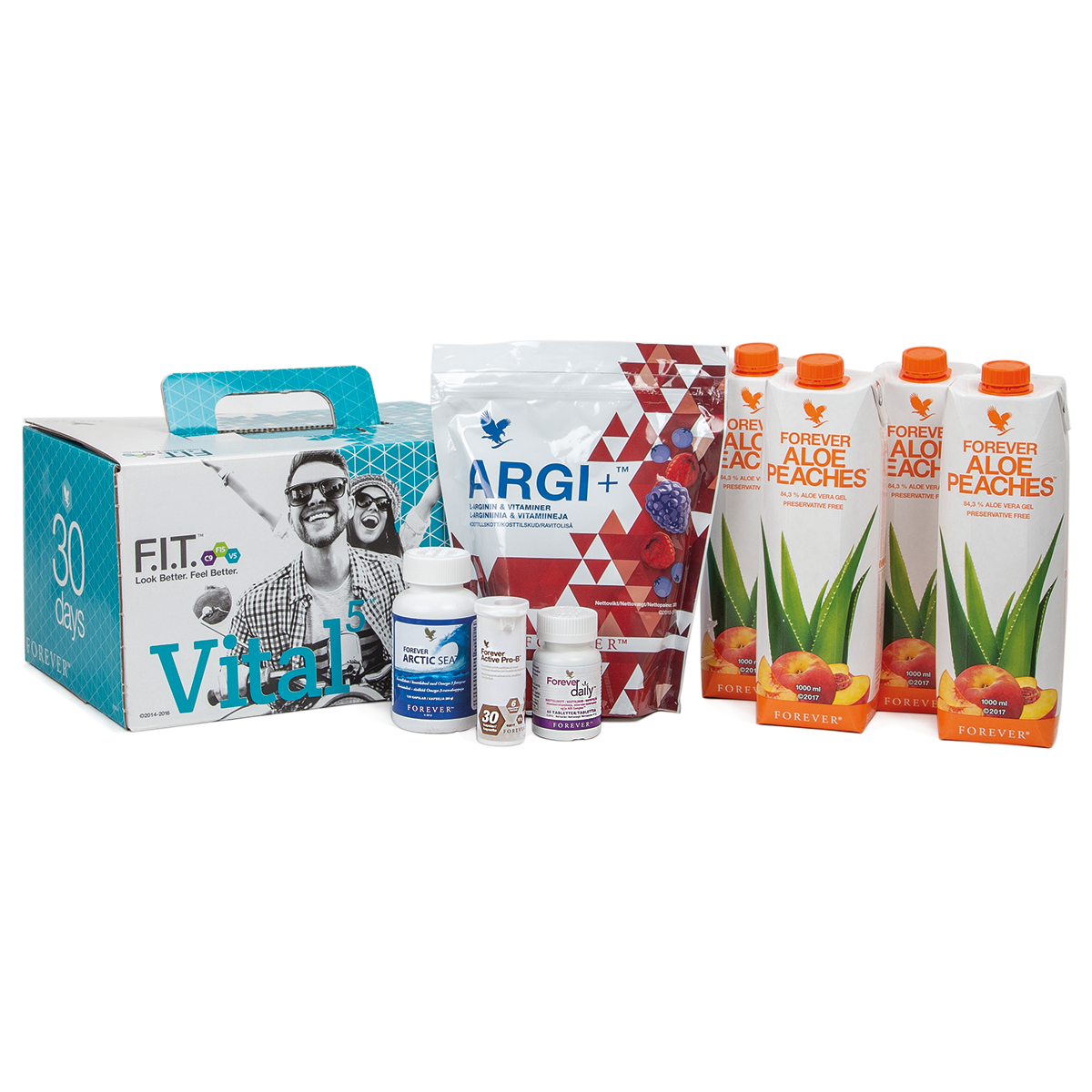 Vital5 brings together our 5 most popular dietary supplements, including Forever Daily multivitamin, Forever Active Pro-B and Forever Arctic Sea.